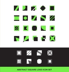 Abstract square logo icon set flat vector image vector image