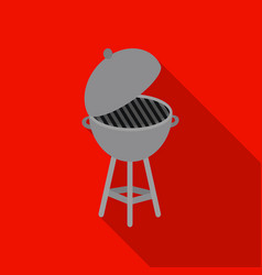 barbecue icon in flat style isolated on white vector image vector image