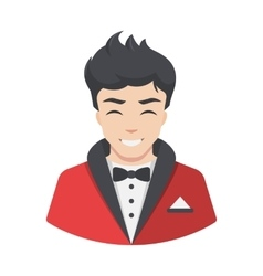 Celebrity men actor in suit flat style avatar vector
