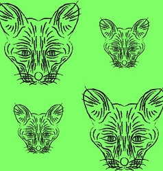 Contour foxes and foxes vector image vector image