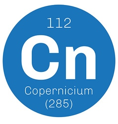 Copernicium chemical element vector