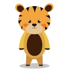 cute tiger isolated icon design vector image vector image