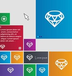 Diamond icon sign buttons modern interface website vector