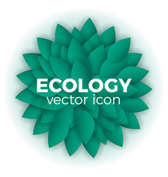 ecology concept vector image vector image