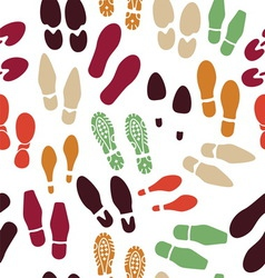 foot print packground vector image