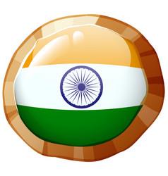 India flag design on round badge vector