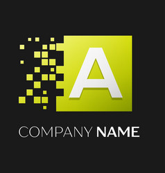 letter a logo symbol in the colorful square vector image vector image