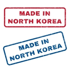 Made in north korea rubber stamps vector