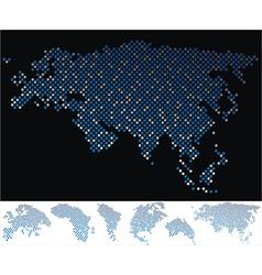 map dot eurasia vector image