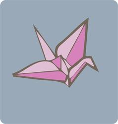Paper crane vector