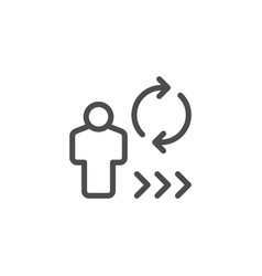 person review line icon vector image