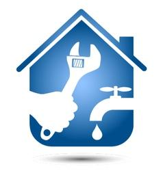 Repair plumbing home vector image