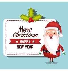 santa claus card merry christmas design vector image vector image