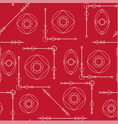 Seamless geometric pattern texture in red and vector