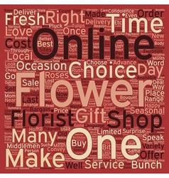 Shop Fresh Flower online text background wordcloud vector image
