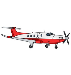 Small propeller airliner vector image