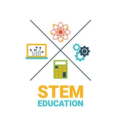 STEM education concept vector image