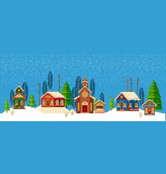 urban winter landscape christmas happy holidays vector image vector image