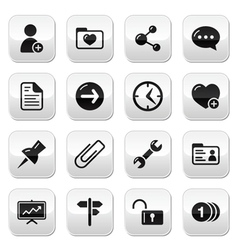 Website navigation buttons set vector image