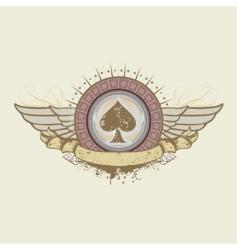 spades suit emblem vector image