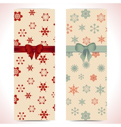 Christmas banner backgrounds and ribbon vector