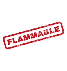 Flammable rubber stamp vector