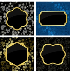 set of card with geometric frames vector image