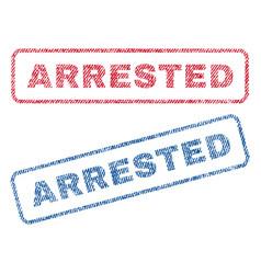 Arrested textile stamps vector