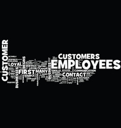 First contact the source of customer loyalty text vector