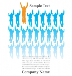 Jumping people page vector
