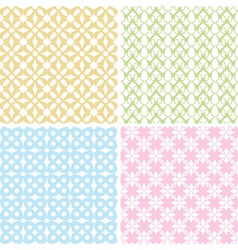 Set of 4 baby patterns vector