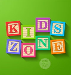 Kids zone vector