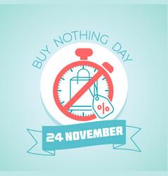 20 november buy nothing day vector