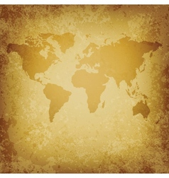 old World map blank template vector image