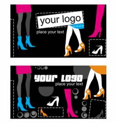 shoes cards vector image
