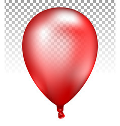3d realistic colorful red balloon vector image