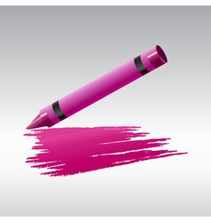 Crayon drawing vector