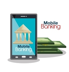Mobile banking design vector