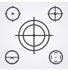 AIM crosshair set icons vector image