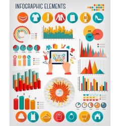 Big set of shopping infographics elements vector
