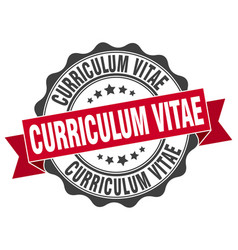 Curriculum vitae stamp sign seal vector