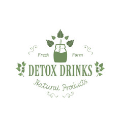 detox fresh farm drinks natural vector image vector image