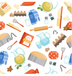 Different ingredients for cooking bakery foods vector