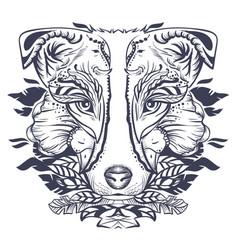 Dog head abstract vector