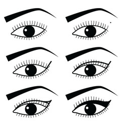 Eye make up technique with use of eyeliner 2 vector