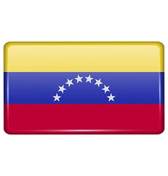 Flags Venezuela in the form of a magnet on vector image