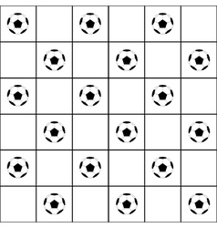 Football Ball Black Grid White Background vector image