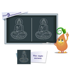 game find 9 differences buddha vector image