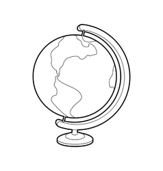 Globe icon outline style vector image vector image