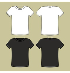 Gray and white t-shirt template vector image